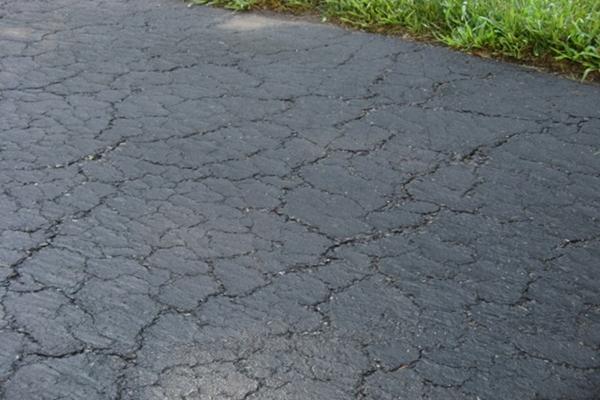 damaged driveway