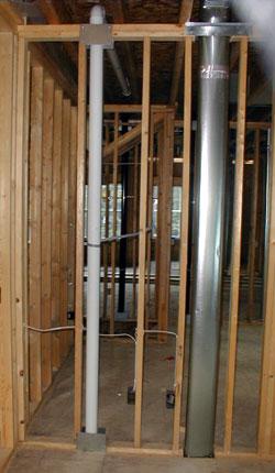 basement mitigation piping