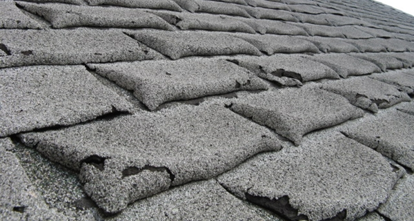 bad asphalt shingles